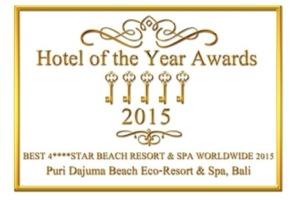 DAJUMA AWARDED «BEST 4 STARS BEACH RESORT AND SPA WORLDWIDE 2015» Puri Dajuma, Beach Eco-Resort & Spa, West Bali