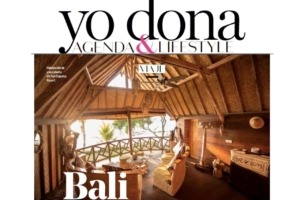 Dajuma illustrates Bali in Yo Donna magazine Puri Dajuma, Beach Eco-Resort & Spa, West Bali