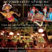 SPECIAL EVENT AT DAJUMA ON OCTOBER Puri Dajuma, Beach Eco-Resort & Spa, West Bali