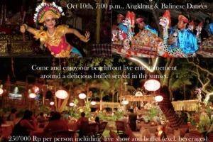 SPECIAL EVENT AT DAJUMA ON OCTOBER Puri Dajuma, Beach Eco-Resort & Spa, West Bali