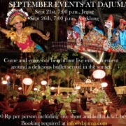 SPECIAL EVENT AT DAJUMA ON SEPTEMBER Puri Dajuma, Beach Eco-Resort & Spa, West Bali