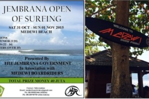 MEDEWI OPEN OF SURFING Puri Dajuma, Beach Eco-Resort & Spa, West Bali