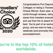 DAJUMA in the top 10% of hotels worldwide