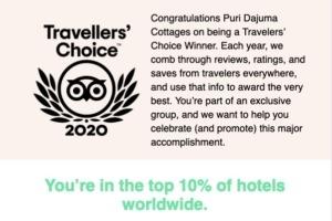 DAJUMA in the top 10% of hotels worldwide