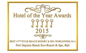 DAJUMA AWARDED «BEST 4 STARS BEACH RESORT AND SPA WORLDWIDE 2015» Puri Dajuma, Beach Eco-Resort & Spa, West Bali