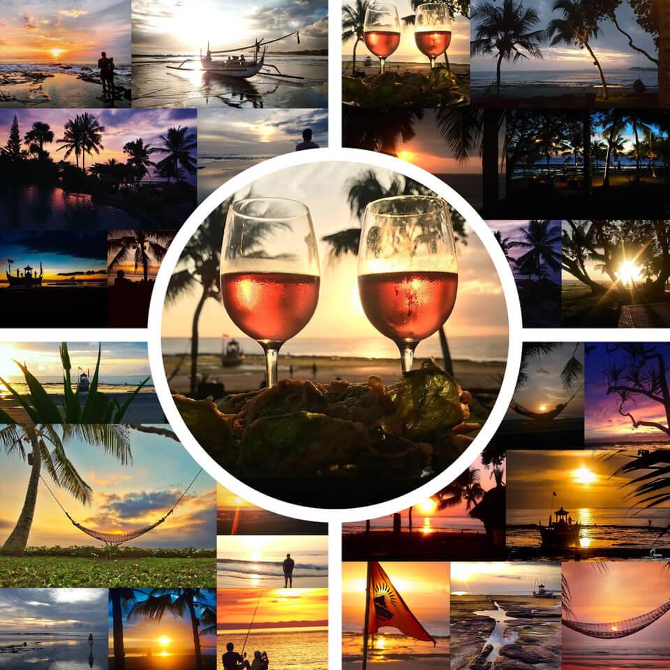 DAJUMA SUNSETS: WHICH ANGLE WILL BE YOURS? Puri Dajuma, Beach Eco-Resort & Spa, West Bali