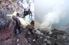 Hiking Ijen volcano
