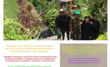 THE TEAM BEHIND THE BEAUTIFUL DAJUMA GARDEN Puri Dajuma, Beach Eco-Resort & Spa, West Bali