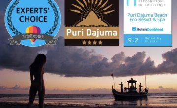 2 NEW AWARDS FOR DAJUMA Puri Dajuma, Beach Eco-Resort & Spa, West Bali best hotel bali