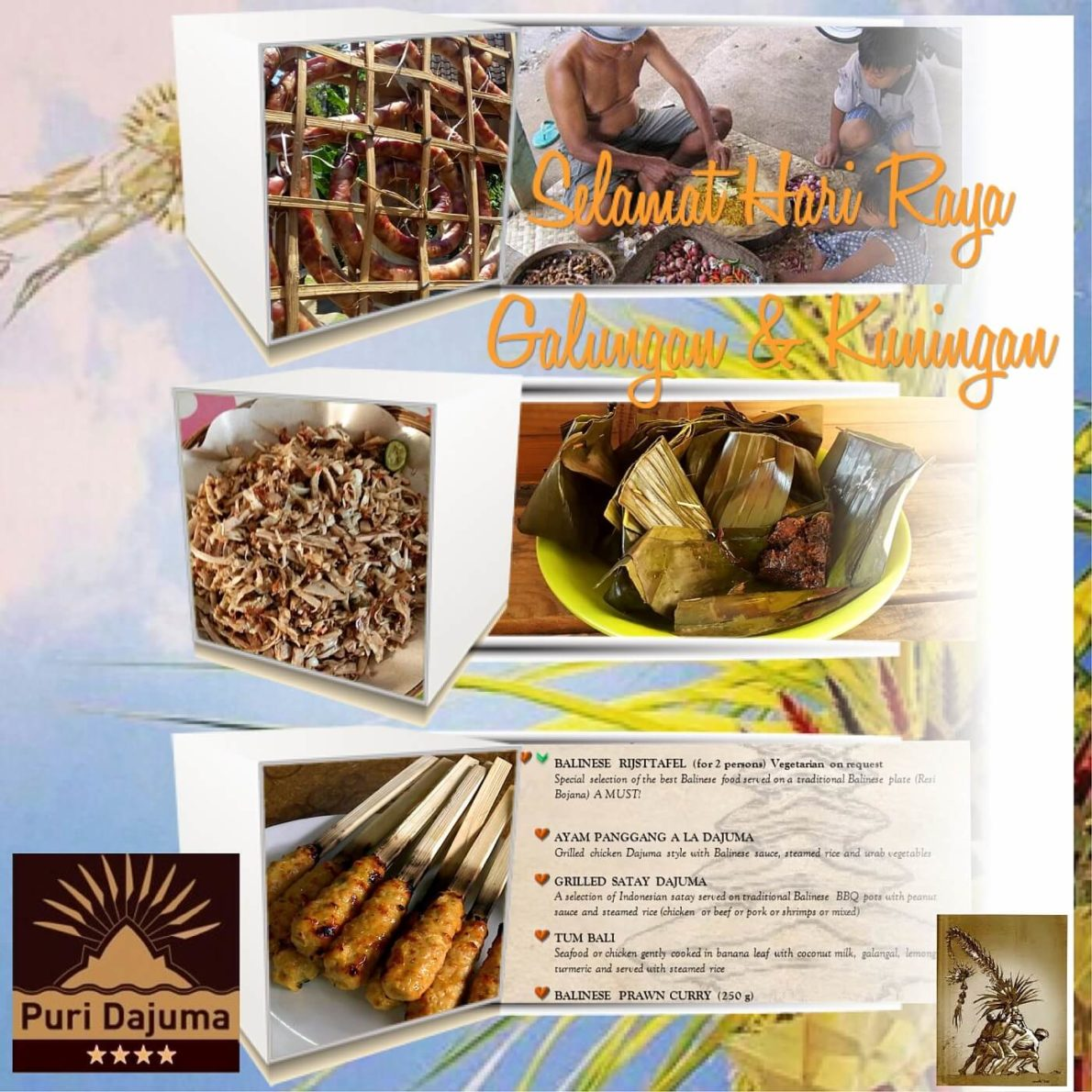 HAPPY GALUNGAN & KUNIGAN! Puri Dajuma, Beach Eco-Resort & Spa, West Bali