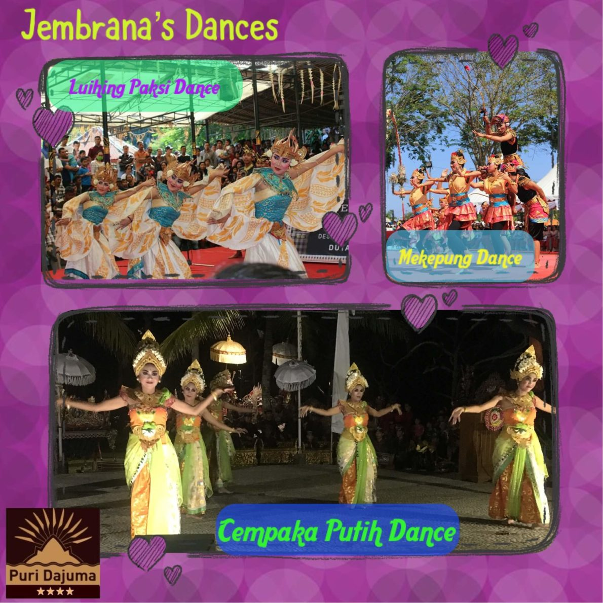 ORIGINAL DANCES FROM WEST BALI: A MUST! Puri Dajuma, Beach Eco-Resort & Spa, West Bali