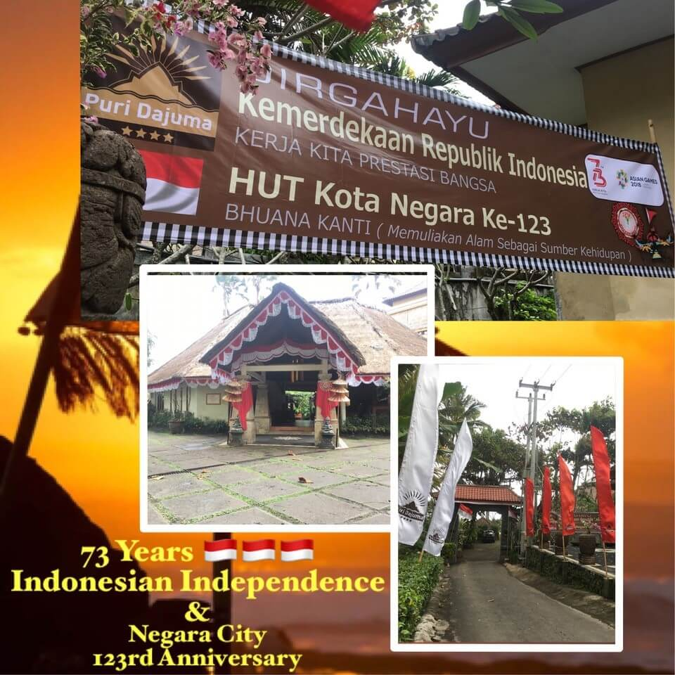 Indonesian Independence Day & Negara City Anniversary Puri Dajuma, Beach Eco-Resort & Spa, West Bali