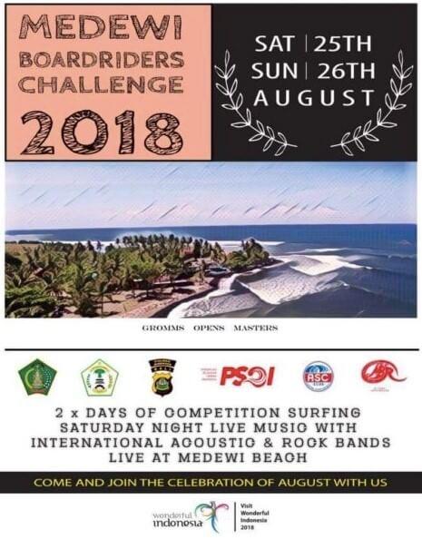 MEDEWI BOARDRIDERS CHALLENGE 2018 Puri Dajuma, Beach Eco-Resort & Spa, West Bali surfing west bali medewi