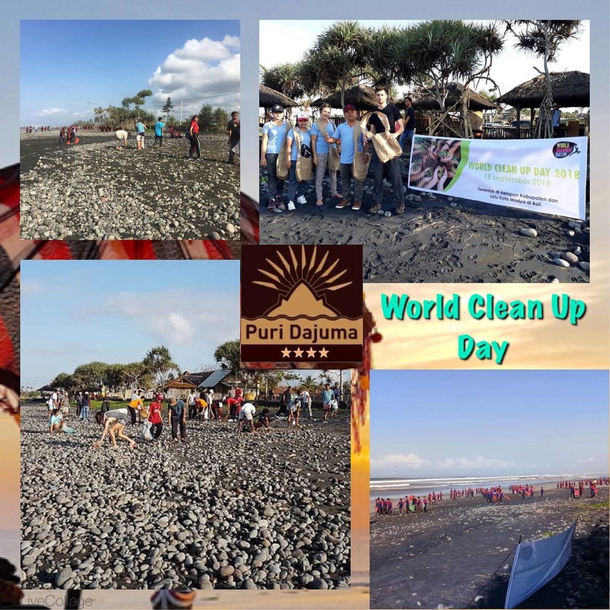 WORLD CLEAN UP DAY Puri Dajuma, Beach Eco-Resort & Spa, West Bali