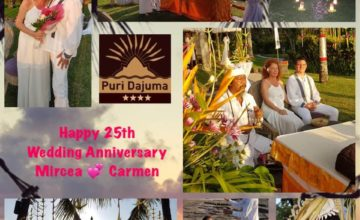AN AMAZING ANNIVERSARY Puri Dajuma, Beach Eco-Resort & Spa, West Bali