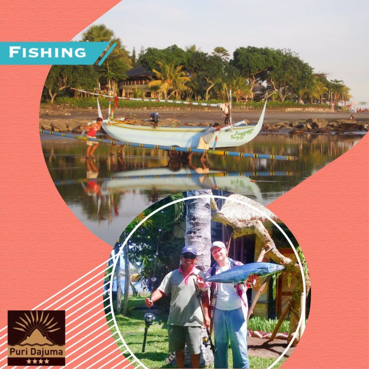 DAJUMA EXPERIENCE: FISHING OFFSHORE Puri Dajuma, Beach Eco-Resort & Spa, West Bali Beach