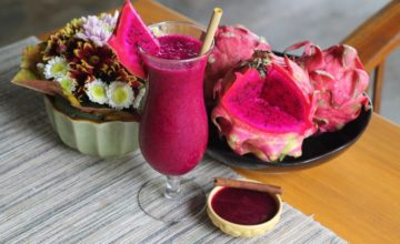 DRAGON FRUIT SEASON Puri Dajuma, Beach Eco-Resort & Spa, West Bali cocktail dajuma restaurant dragon fruit