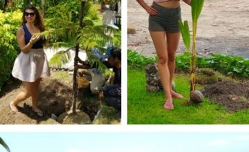 PLANTING TREES AT DAJUMA Puri Dajuma, Beach Eco-Resort & Spa, West Bali tropical garden